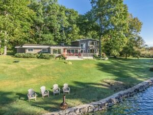 Stunning 4 Bed 4 Bath Waterfront Home on Over an Acre of Land!
