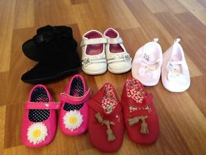 Assorted baby girl shoes size 4