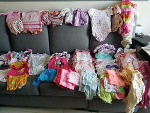 Lot de vêtements fille 0-6mois