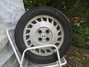 4 jantes Honda d'origine, 4 pneus 185/60/14