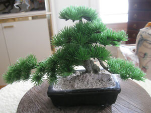 QUAINT LITTLE ARTIFICIAL ORIENTAL SWOOPING PINE