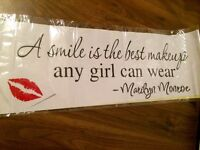 Quote Wall Decal - Marilyn Monroe Kiss (New)