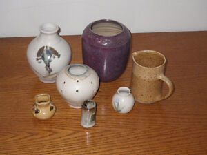 Various Pottery Vases/Jugs