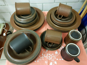 "Vintage Arabia, Finland, ""Ruska"" 32 piece Dinner set"