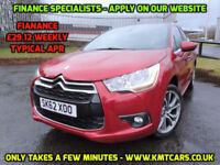 2012 Citroen DS4 1.6e-HDi ( 110bhp ) Airdream EGS6 DStyle - Full Hist - KMT Cars
