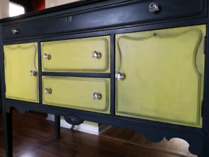 Refinished buffet sideboard
