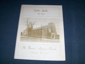ST. THOMAS AQUINAS CHURCH-WISCONSIN-VINTAGE JUBILEE PROGRAM