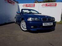 2002 52 BMW 325 Ci M-SPORT CONVERTIBLE.1 WOMAN OWNER.FULL S/H.FULL MOT.2 X KEYS.