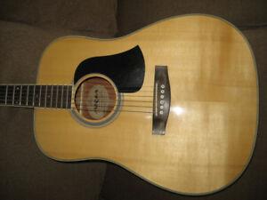 Solid top Aria acoustic guitar