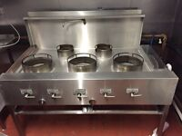 COMMERCIAL GAS WOK - Used Commercial Wok Cooker - 5 Burner - GAS