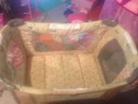 Safety first play pen.