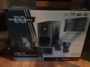 New Dresden 5.1 home theatre acoustic sorround system