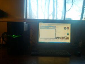 "Computer w/ 22"" LCD Monitor"