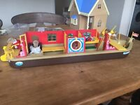 Sylvanian families boat and otter family
