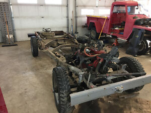 1960 Willys pick up frame and drive train