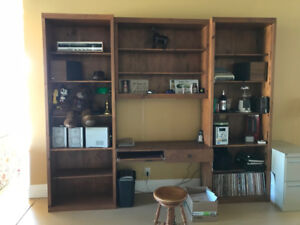 three piece 8' x 10' wall unit and work station