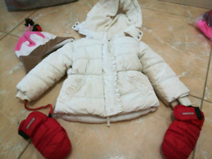 2T winter jacket with mittens and winter hat