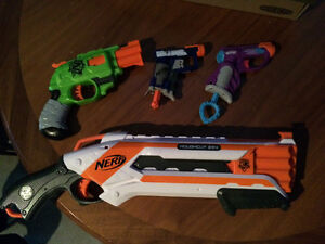 4 nerf guns for sale, with bullets. Kitchener / Waterloo Kitchener Area image 2