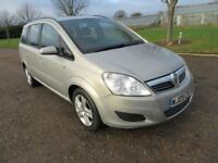 2009 VAUXHALL ZAFIRA 1.6I 16V 115 EXCLUSIV MANUAL PETROL 5 DOOR MPV