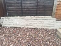 6 gravel boards and 5 concrete posts all new