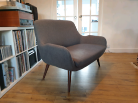 Made Moby 2 seater sofa - marl grey