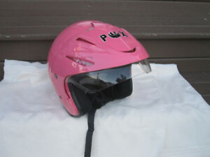 Women's Half Face Motorcycle Helmet Pink - DOT
