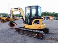 Cat excavator for rent or hire