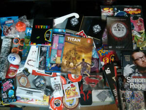 Loot Crate / Nerd Block assorted lotSimon Pegg book, Sonic and