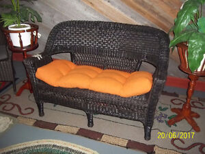 Wicker Love-seat with Cushion