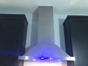 Only used Once Stainless Steel Hood Range