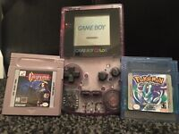 Gameboy colour with Pokemon crystal and Castlevania