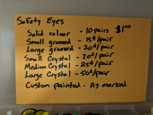 Safety eyes for dolls and teddy bears