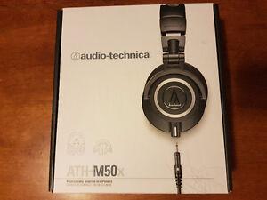 Audio Technica m50X headphones. Brand New