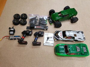 Heavily Upgraded Traxxas Rustler With 3s Lipo And Lots Of Extras