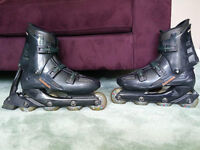 INLINE SKATES - MEN'S SIZE 11 - WITH UPGRADED WHEELS