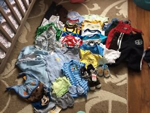 Bag full of baby boy clothes