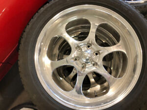 Brand New Set - 22 Inch Hand Forged Centerline Rims with Tires