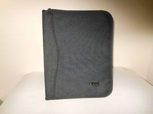 Black zippered briefcase