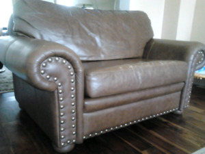 RAWHIDE LEATHER COWBOY SOFA AND LOVESEAT - RETAILED @ $10,000