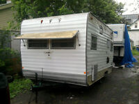 18 foot camper project parts or hunting camp