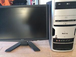 Acer X193W moniteur LCD (noir) et ordinateur