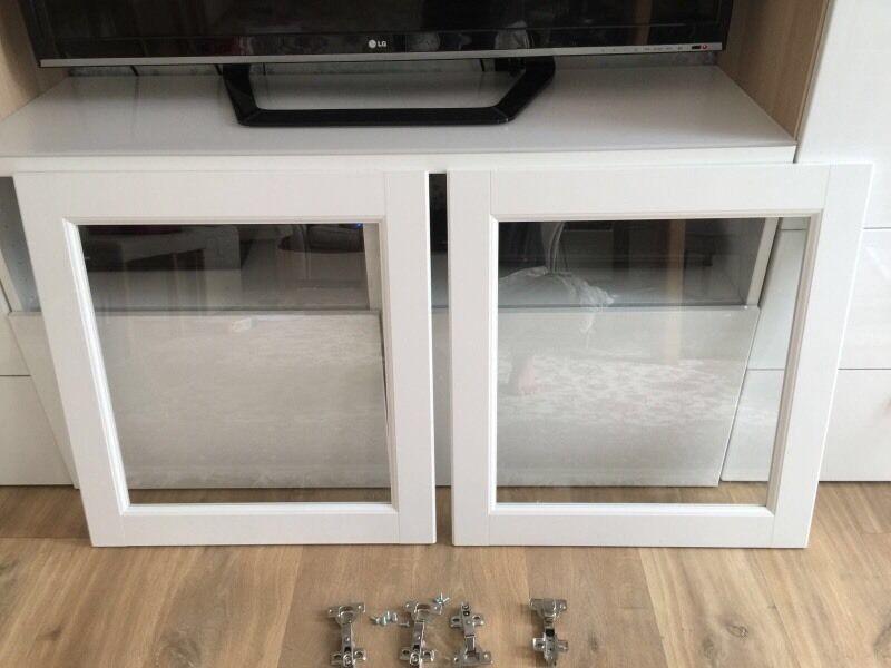 Pair Of Ikea Besta Glass Door White Frame In Northolt London