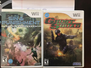 Sin & Punishment and Ghost Squad Wii games