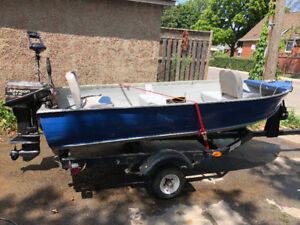 12 Ft aluminum boat package