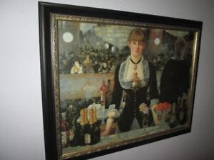 Renoir oil on canvas framed reproduction painting