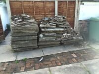 Concrete paving slabs - around 15sqm intact