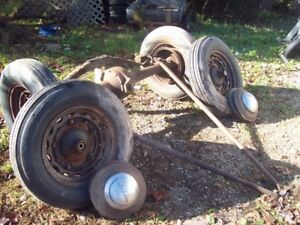 1938 Ford rear end,wheels&drums etc.