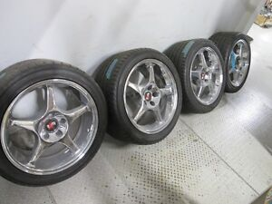 """2000 Mustang """"R"""" chrome rims and tires 265/40ZR 18"""