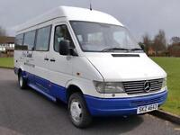 Mercedes-Benz Sprinter 412D LWB 17 SEATER MINIBUS TWIN WHEELS