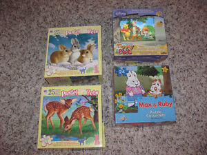 4 CHILDREN's PUZZLES for ages 3+